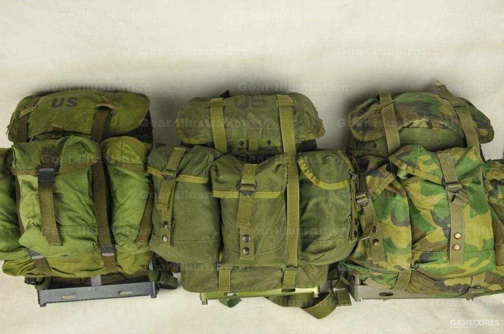 三个版本的中号背包