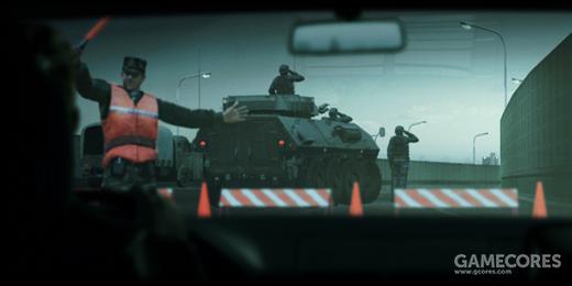 """Untitled #242 05:25 Dec 31 2010:""""我不知道这些人是谁,但即使我对他们一无所知,看到他们从高速公路上起飞,我也不禁肃然起敬。""""12月31日一大早,通往首都Oured的主干道突然被军队封锁。"""
