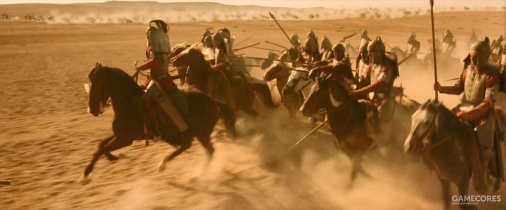 贝苏斯带领的甲胄骑兵,来自东方的巴克特里亚(中国古代称之为大夏)和马萨革泰。这身盔甲其实也并不准确。