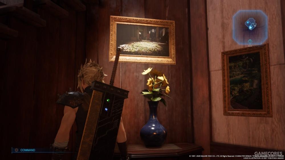 爱丽丝家里的几幅画,教堂和自家花园,不懂为啥要挂这么两幅画。。。