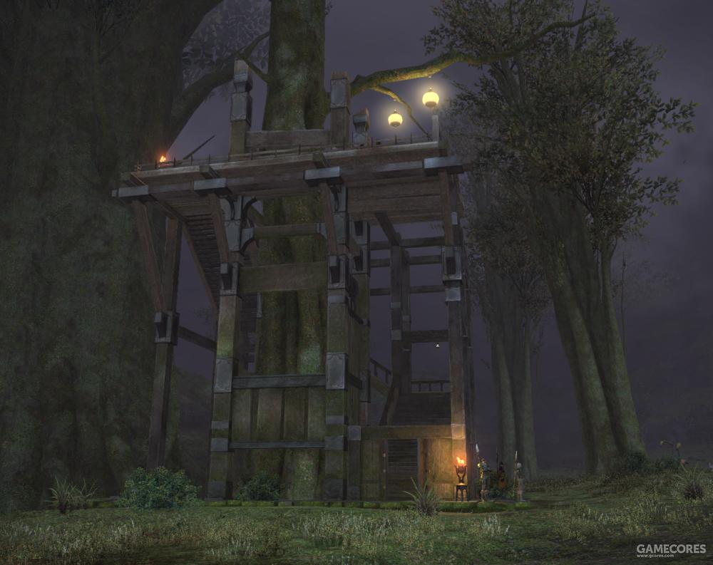 新建成的阿马里赛哨塔,这座哨塔被用来直接监视巴埃萨长城另一侧帝国军的行动