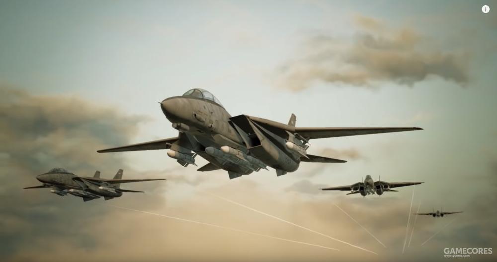 AC7之前宣传片中挂载AIM-54的F-14编队
