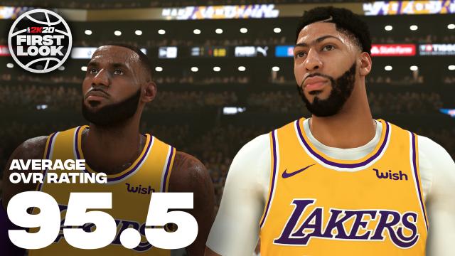《NBA 2K20》球員能力值公佈,小卡詹姆斯並列第一