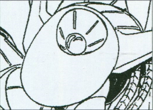 肩部正反两面都搭载有扩散式光束炮,能够进行大面积扫射的扩散式光束炮能够有效在近身作战中牵制对手。