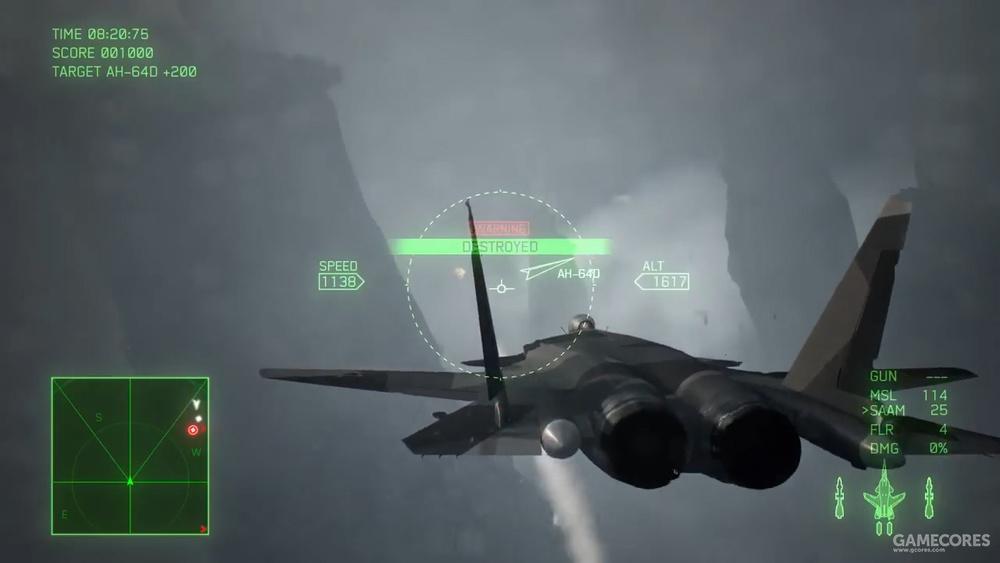 AC7中的SU-47 注意其几何碎片迷彩和R-27导弹