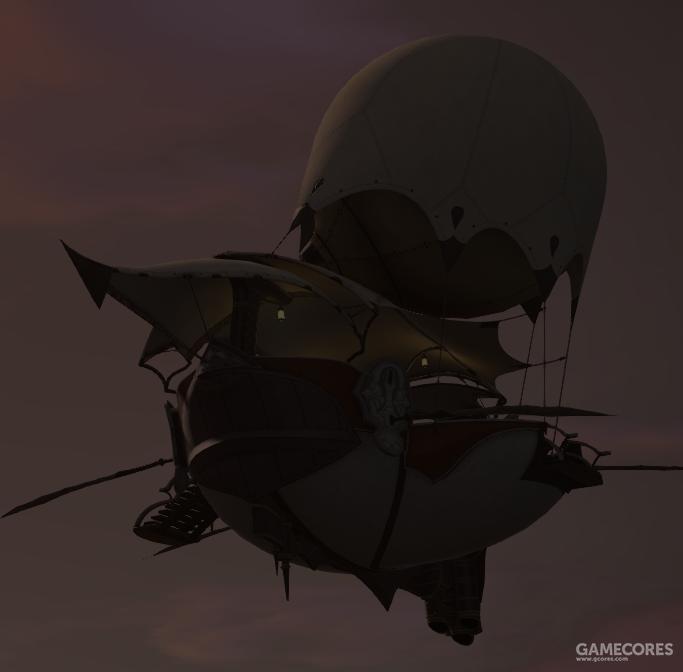 高飞运输的另一个革命性发明是利用青磷水气囊的飞空艇技术