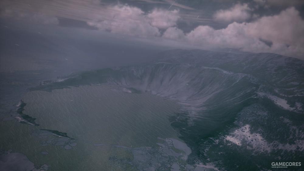 安特诺拉(Antenora)陨石坑,位于埃斯托瓦基亚北部索恩(Sonne)岛Chandelier轨道炮设施附近。
