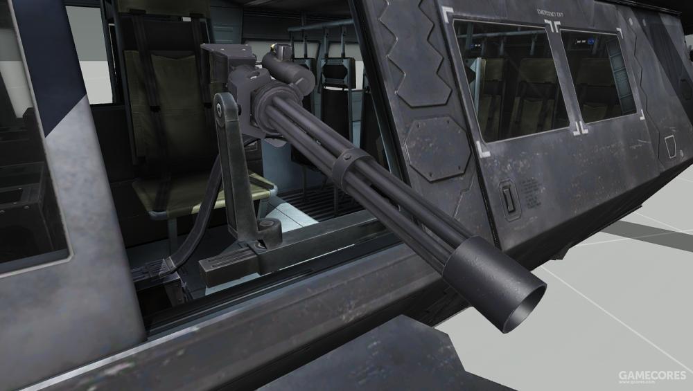 UH-80只能携带2挺6.5mm机枪,由机枪手控制