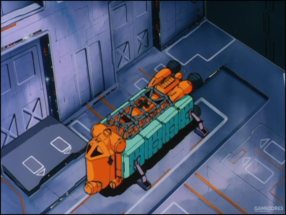 SIDE 6属于中立地带,吉翁军在此的军事行动不免束手束脚。因此对地球联邦军在SIDE 6的秘密MS研发基地只能采用潜入破坏的形式。MS-18E拆分为部件由伪装的货船运入了殖民卫星内部。