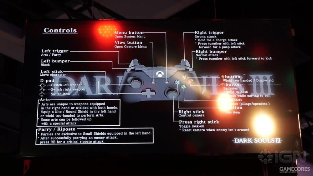 《黑暗之魂3》操作说明