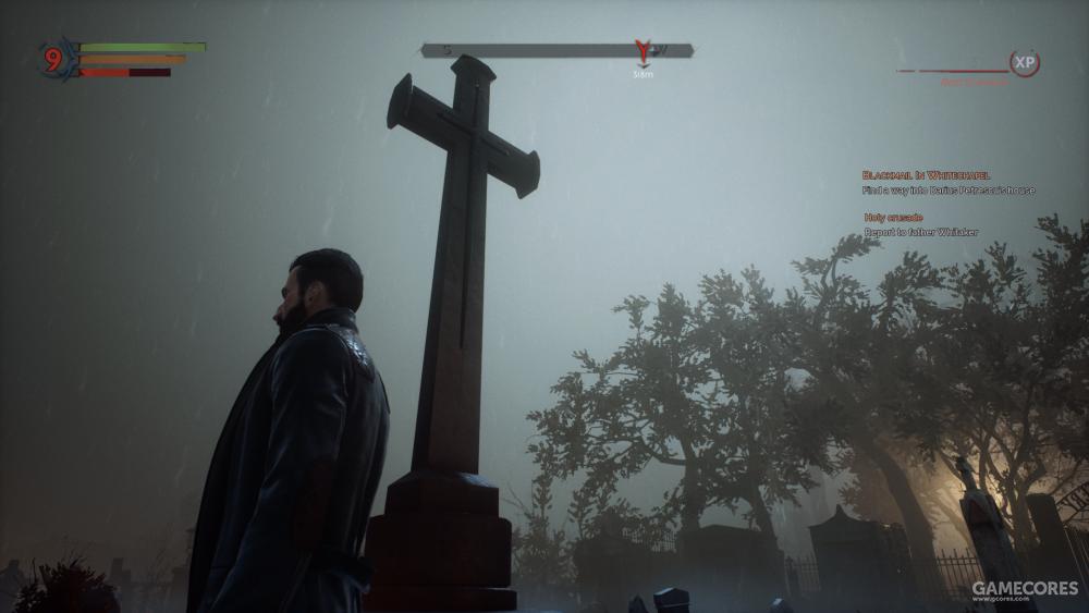 最近在玩的Vampyr,这就没有体积光(反正我现在还没有发现过哪里有)