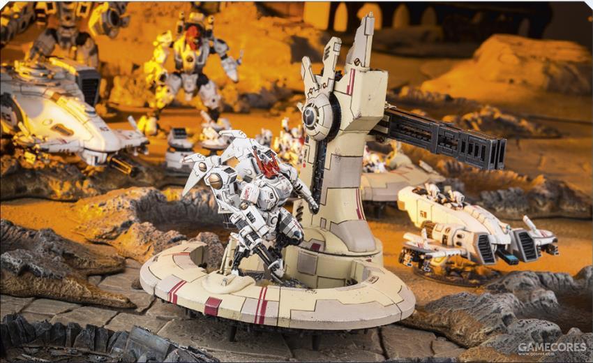 潮汐系列防御工事,其机动性搭配影阳如套娃般的陷阱和初次出现所造成的情报缺失,使得星际战士在其面前被打出了坎尼会战般的惨败