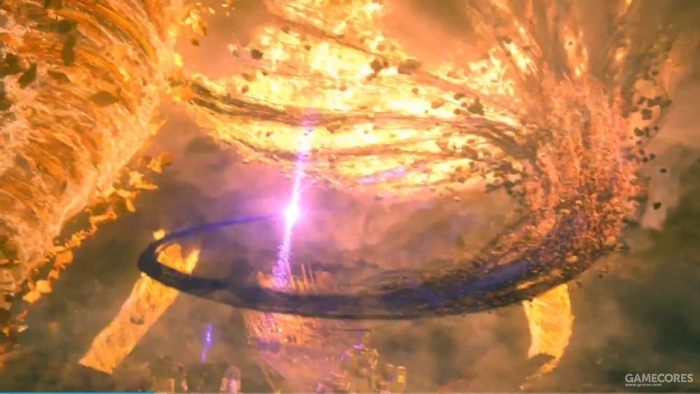 空中那极为显眼的一颗紫色凶星,将陨石和大量菲拉(这个不太确定,我倾向是菲拉)一起吸收了