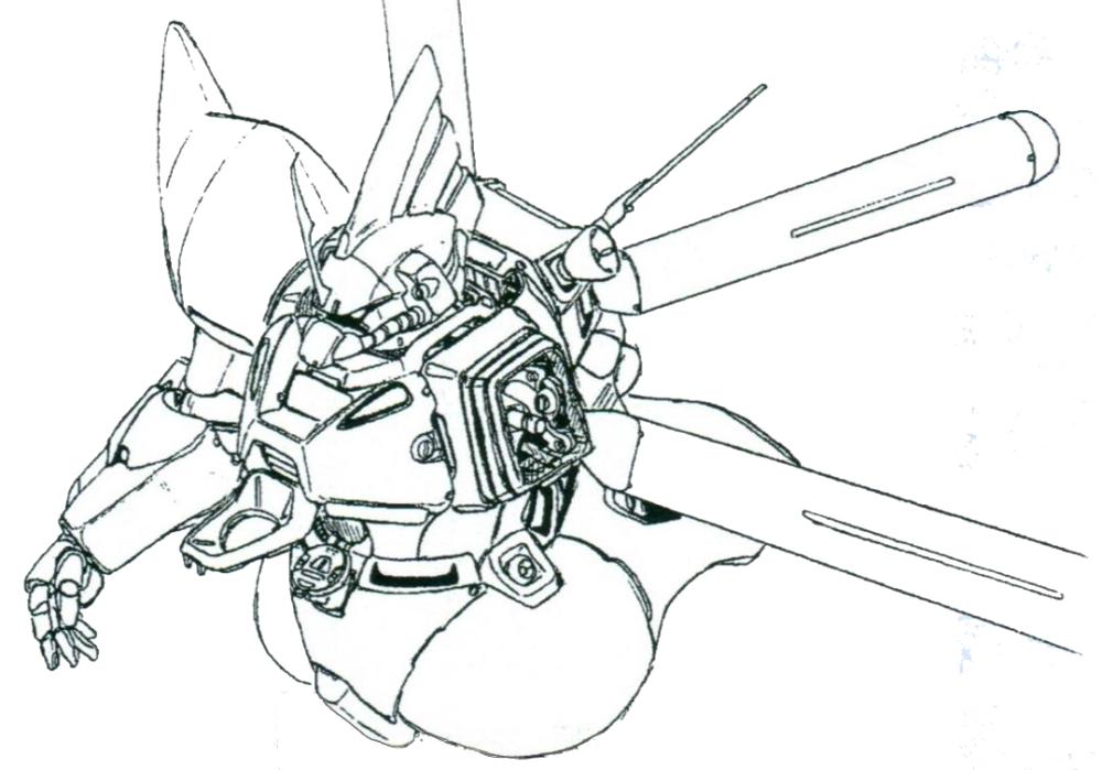 MS-14FS躯干部位进行了大量修改。更好的散热系统设计使其装备的核融合炉能够稳定工作在更高的功率。驾驶舱门设计为第二批次MS的进一步标准化设计。后续诞生的MS-17也采用了这一设计。背包也进行了进一步升级,使用了三重推进器式背包,为了满足更高的燃料消耗,MS-14FS的背包总共可以安装四个可抛弃式燃料箱。