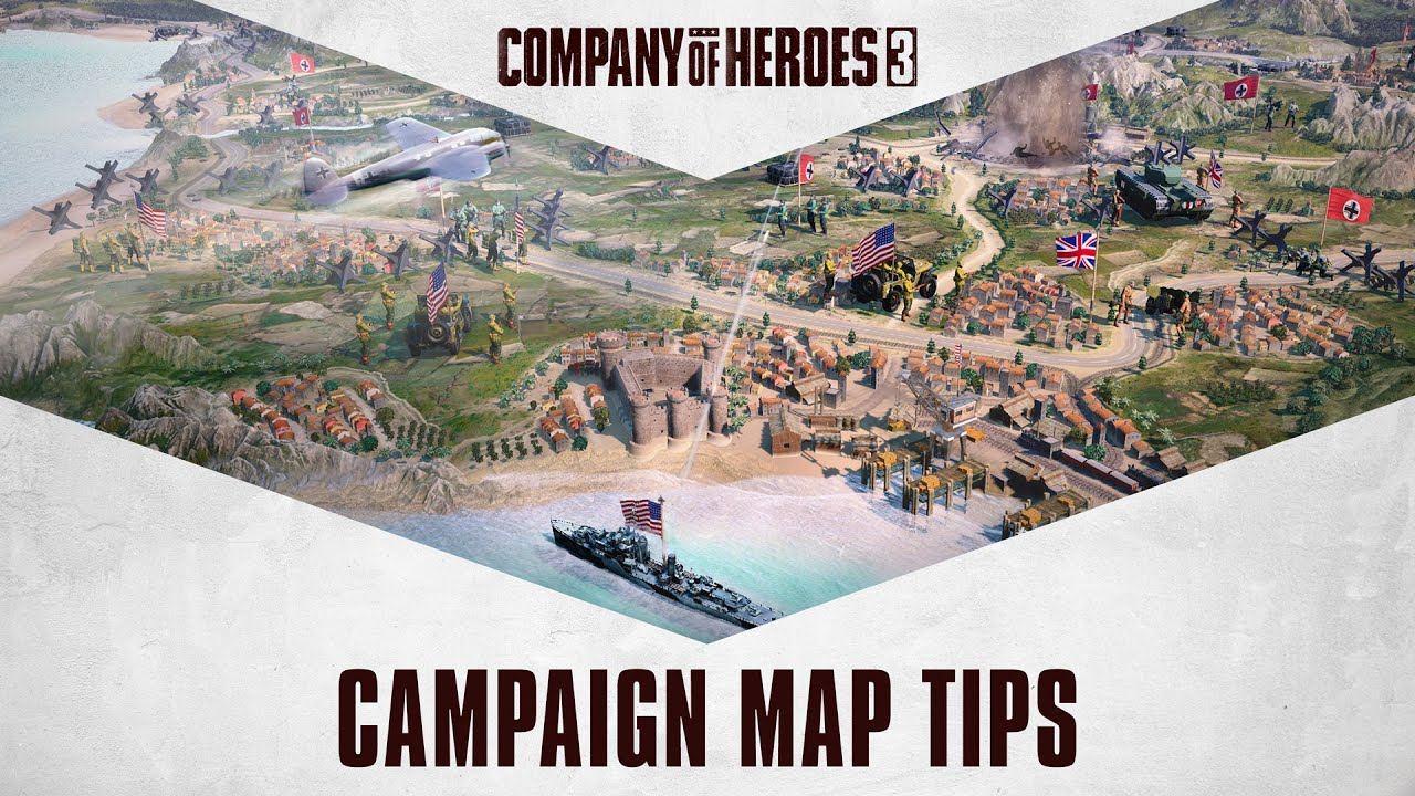 《英雄连3》公布最新实机演示,介绍动态战役地图系统及战术暂停