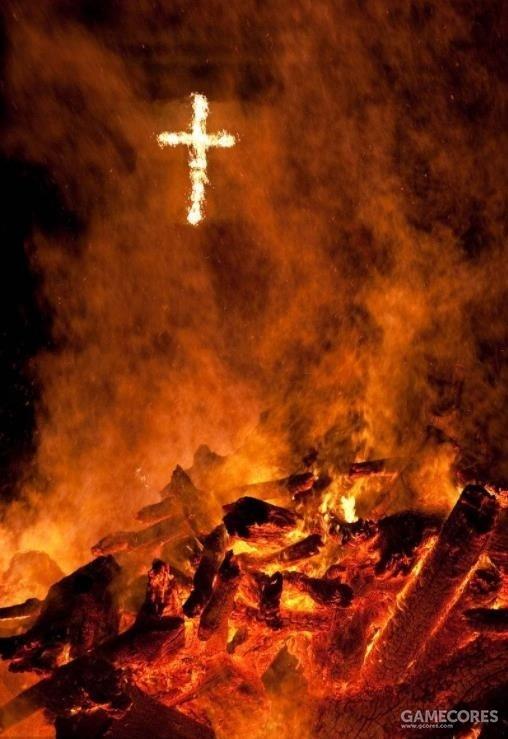 燃烧十字架的行为充满了邪教的意味