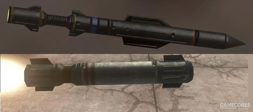 上面是导弹炮塔的射弹,下面是M19型