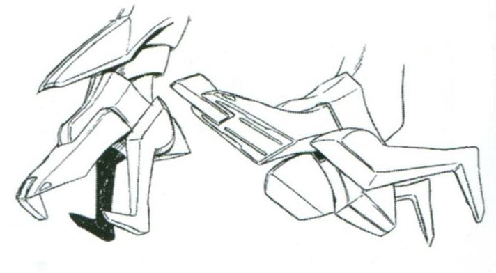 脚部的机械爪结构由于结构设计有所优化,因此除了基础的固定机体功能外,在近身作战中也能起到钳制对手的作用。