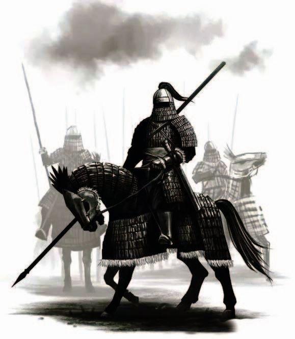 """被称为""""铁浮屠""""的金军甲胄骑兵,能够发动非常猛烈的冲锋"""