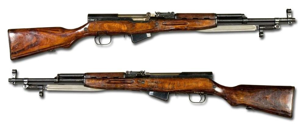 二战后苏联重新研制的SKS半自动步枪,它在中国的变体服役时间相当长
