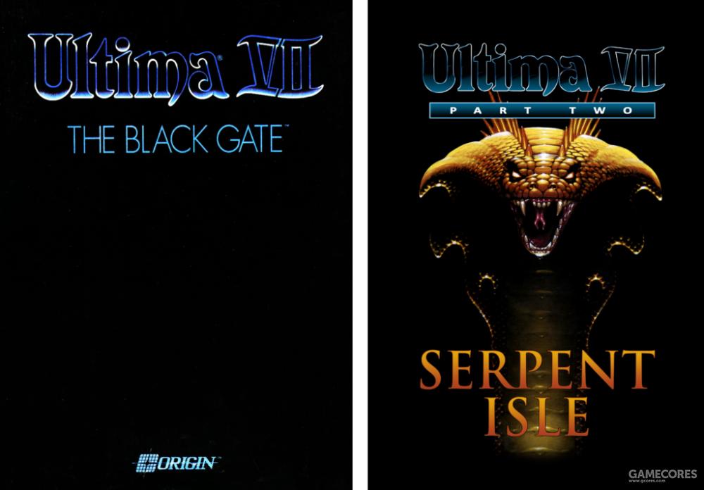 《创世纪VII:黑月之门》、《创世纪VII下:蛇岛》
