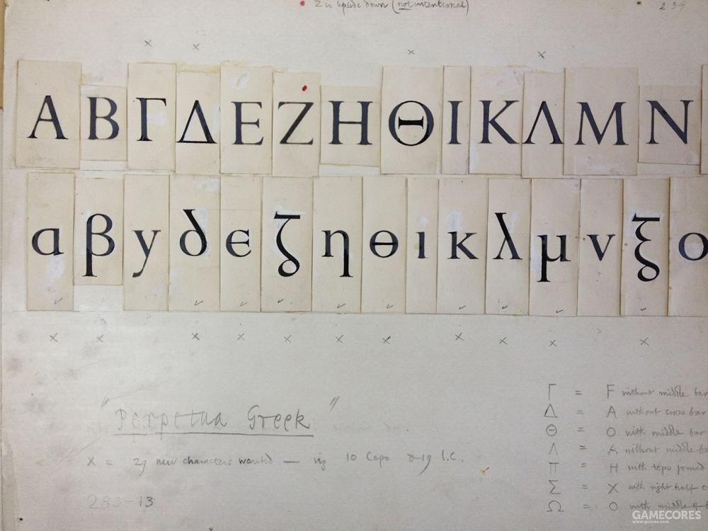 英国传奇字体设计师Eric Gill的手稿