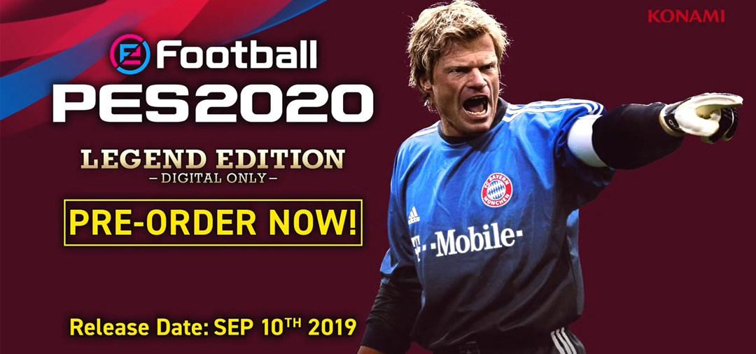 《实况足球2020》公开全新预告片,拜仁慕尼黑签订协约,卡恩作为传奇球星登场!