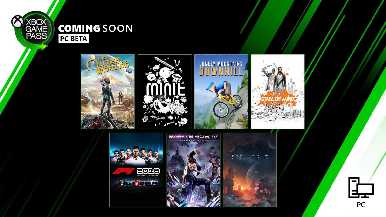 XGP PC十月游戏更新,《天外世界》加入