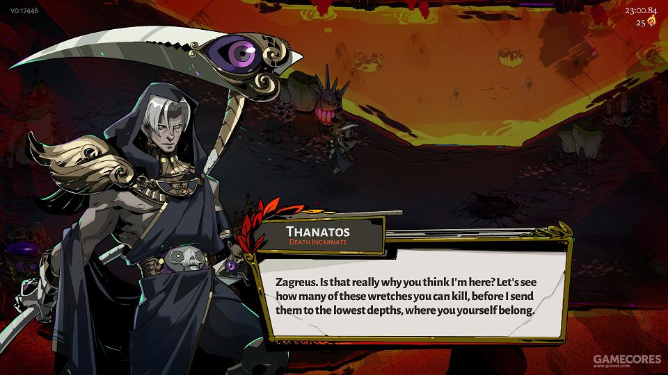 塔纳托斯,会跟你比拼杀敌数。尚不知获胜后有什么奖励,因为这哥哥刀刀9999
