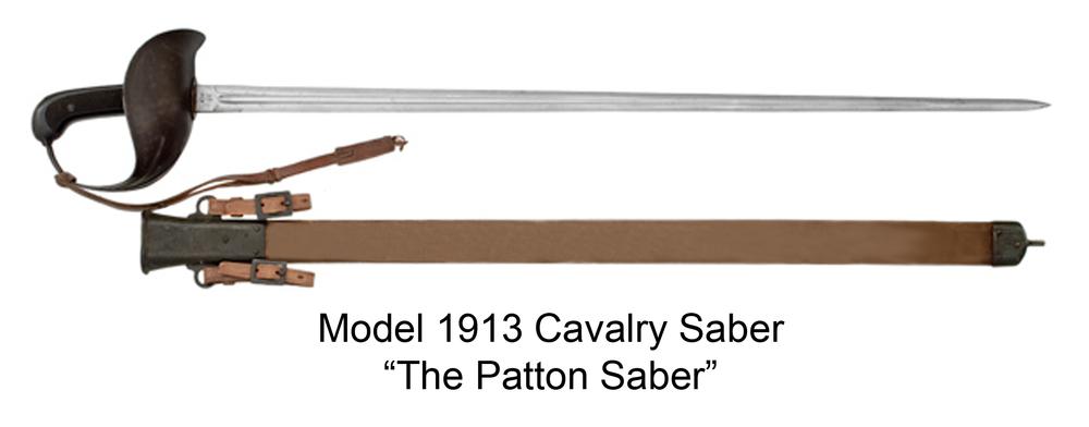 """1913式骑兵刀,又得名为""""巴顿剑"""""""