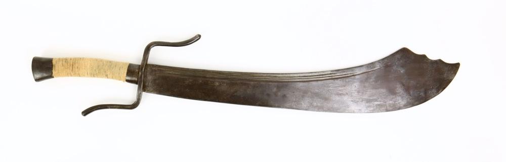 清代的中国大刀,使用嵌钢结构打造,类似的武器在二战时期仍然被中国军队使用,书写了一段段可歌可泣的战争往事