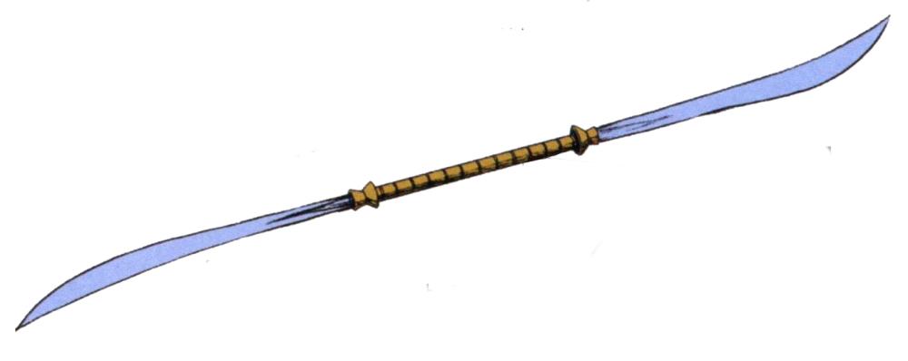 作为格斗武器的是由ALBERT公司研发生产的双头光束薙刀。该型光束军刀能在双头薙刀和单向的军刀间自由切换以适应不同战况。