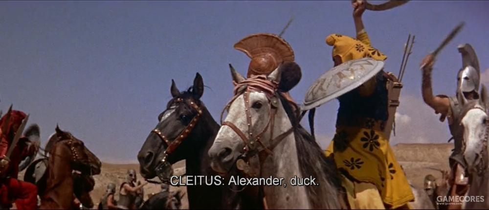 黑克莱图斯救了亚历山大一命这一幕也被拍了出来