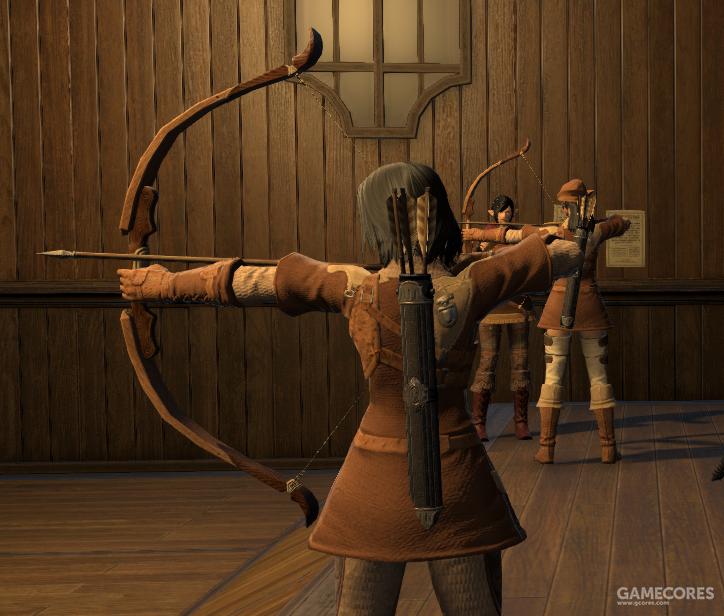 在猫魅族猎人加入猎人行会后,神勇队中也有了使用短弓的队员