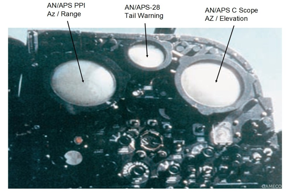 F3D的雷达控制面板