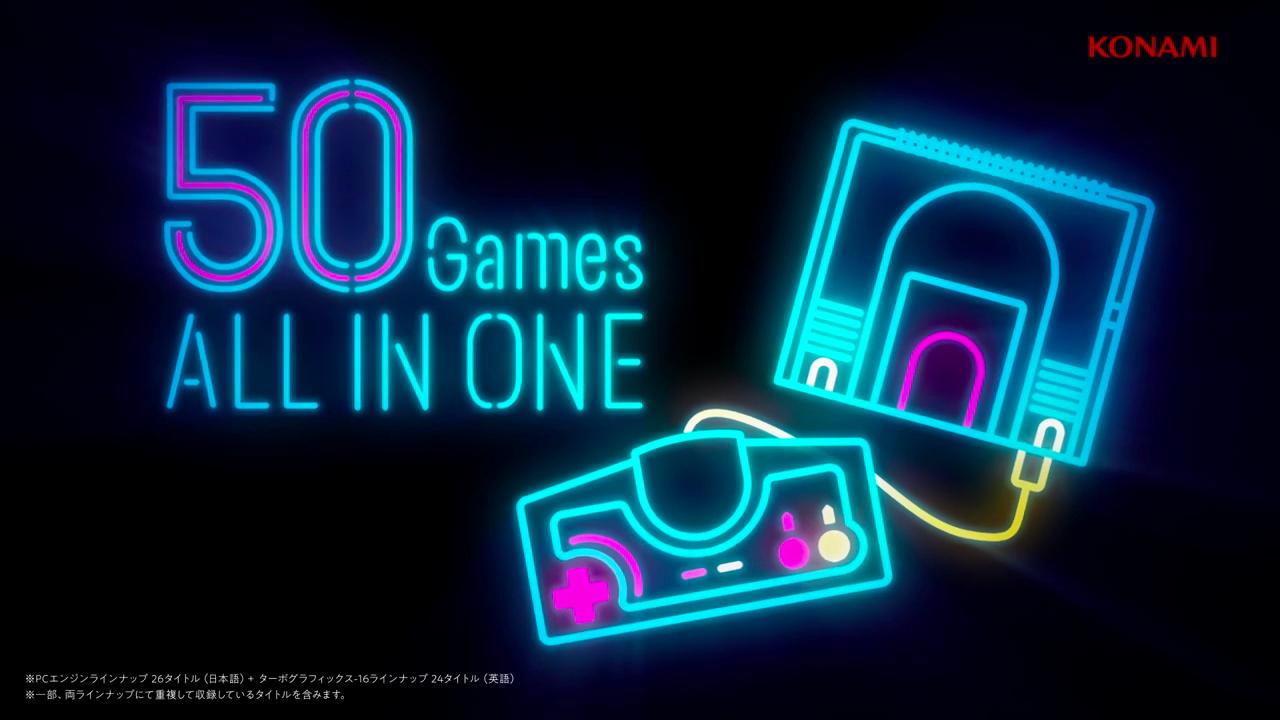50款经典游戏都在这里了,PC Engine Mini 公开游戏阵容预告