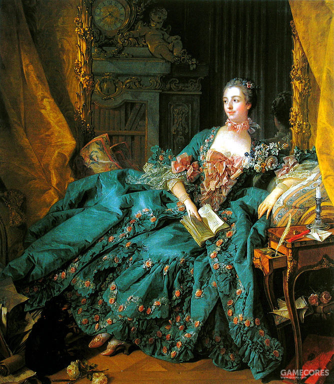 Portrait of Marquise de Pompadour by François Boucher, 1756