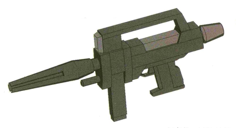 UC 0084年开始配发部队的BS-S-85-C2光束步枪使得1.9MW级输出功率的光束步枪普及到了每一架量产型MS。24发的最大射击次数也足够量产机任务需求。