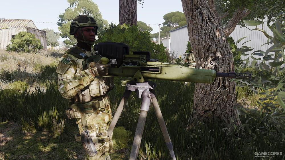 操作Mk32的步兵