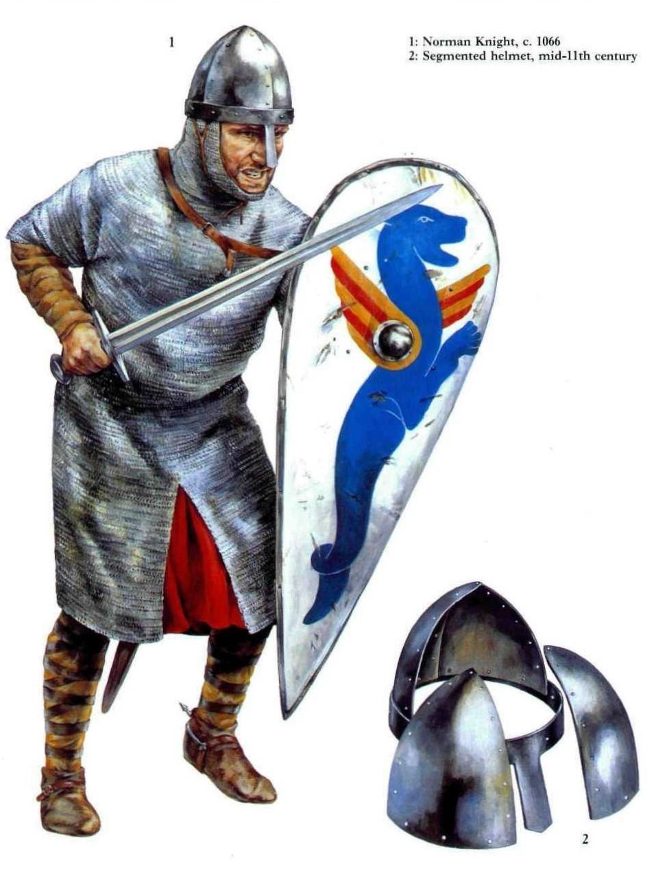 诺曼骑士和他的锥形盔