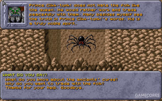 蜘蛛王子的跟班,从他口中我们得知王子和女王对待地下居民的态度完全不同