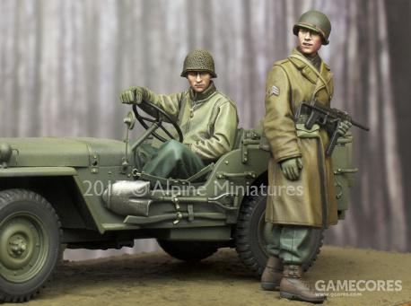 Alpine 35243 WW2 US NCO & Driver Set 1/35