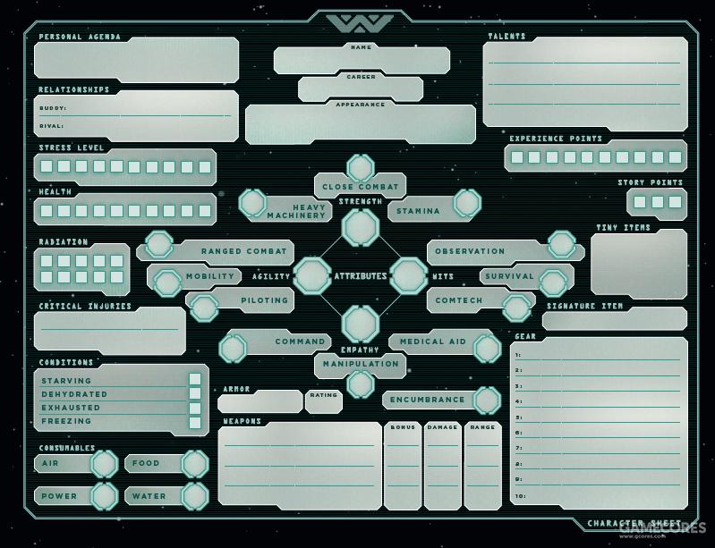 电影模式的玩家角色卡