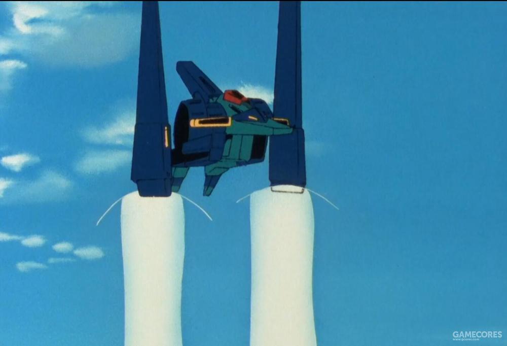 可动式盾型平衡翼结构能灵活的改变推力朝向。使得ORX-005在MA形态不需要改变机头朝向就能进行小半径回旋以及急停跃升等一系列动作。