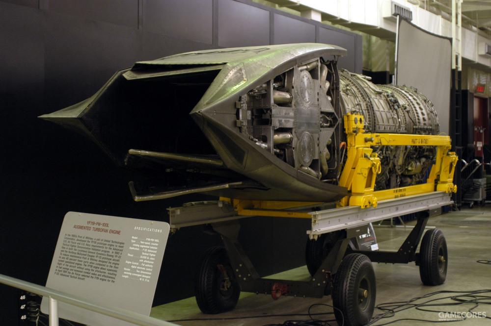 YF119的矢量推力喷口安装有总计四层唇板。内外两侧唇板都能活动以控制发动机推力方向以及推进流量。