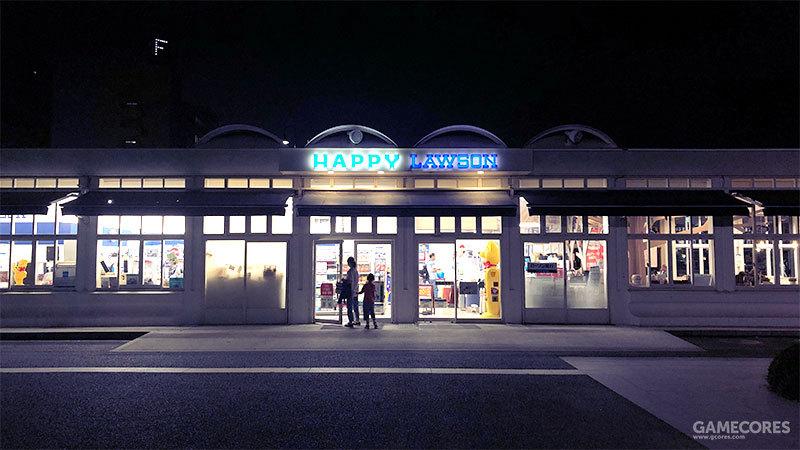 对比现实生活中的Lawson便利店实拍照片