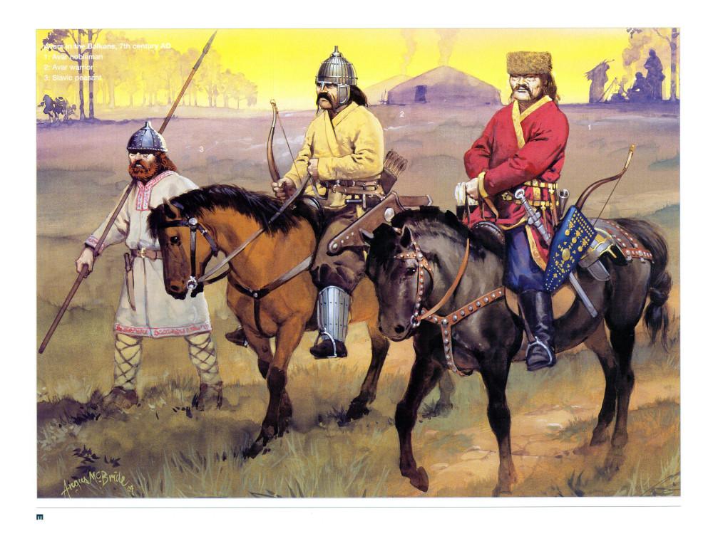 大多数观点认为马镫是由阿瓦尔人(可能是柔然人的后裔)带到欧洲的,但是欧洲发现的阿瓦尔式马镫并不如日耳曼式常见