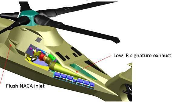 排气系统主要用于降低直升机上最大热源:发动机废气的红外信号。