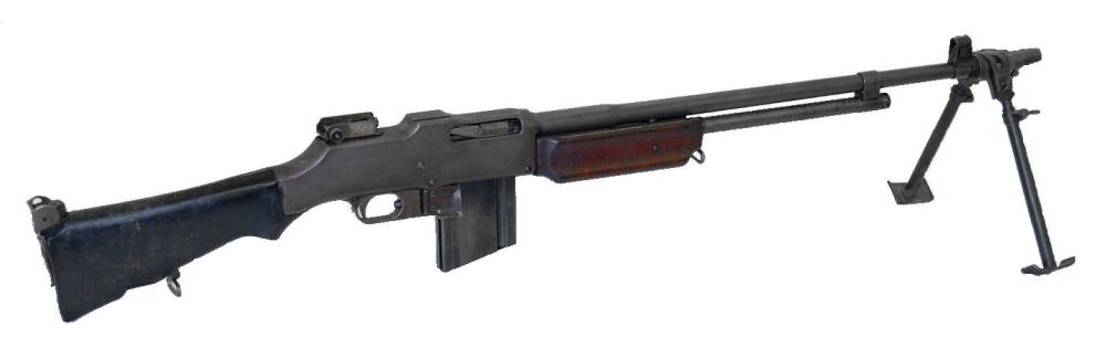 勃朗宁自动步枪,实际上应该算轻机枪