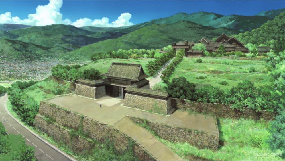 动画中阵内家的城邸与上田城的造型非常相似